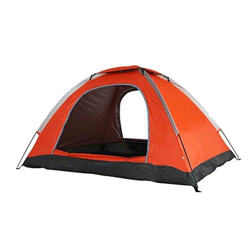 TZQ Sólida Hermosa Duradera Solo Pareja Doble Al Aire Libre Camping Tiendas De Campaña,Orange