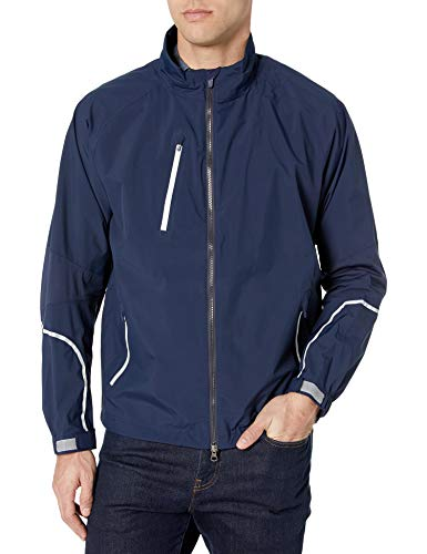 Great Price! Zero Restriction Men's Power Torque Jacket, Navy/Metallic Silver, Large