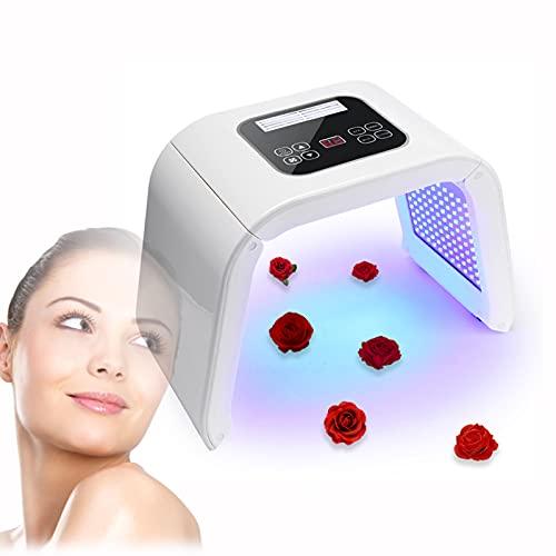 Lampara de Belleza LED para Cuidado Facial, Dispositivo Tonificadores de LED Ligeros para Rejuvenecimiento de Piel de Cara, Eliminación del Acné y Arrugas para Piel