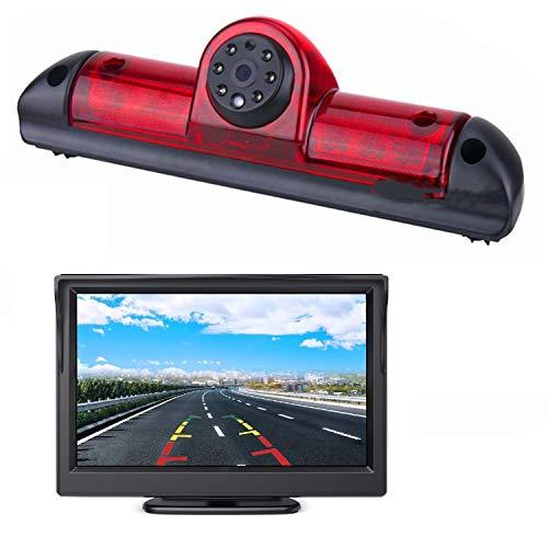 HD 720p 3. Bremsleuchte Rückfahrkamera Set, 12,7 cm (5 Zoll) LCD-Rückfahrmonitor mit IP68 wasserdicht Nachtsicht für Fiat Ducato, Citroen Jumper, Citroen Relay, Peugeot Boxer X250 06-17