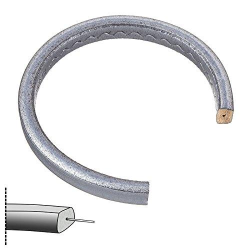 Regaliz de plata de cordón de cuero de Regaliz con agujero 20 cm PK1