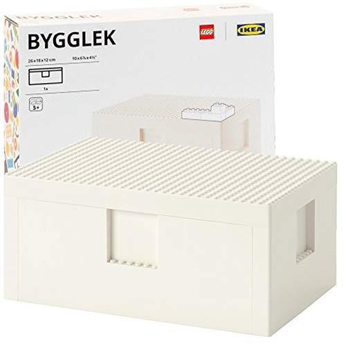 SD IKEA BYGGLEK, Aufbewahrungsbox mit Deckel, weiß, 26 x 18 x 12 cm