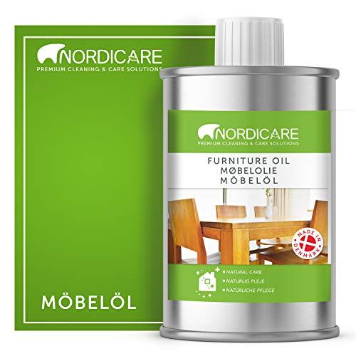 Nordicare Holzöl zur Pflege. Möbelöl farblos für Eiche, Buche, Nussbaum, Lärche. Holzlasur auf Basis von Leinöl. Leinölfirnis (1 Liter)