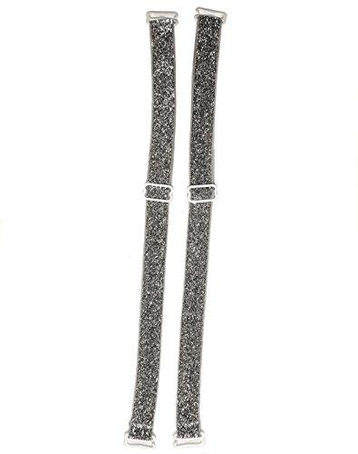 Coriko Coriko 10103 textiler BH-Träger mit Glitter Silber