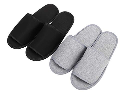 Zapatilla de algodón Zapatillas de Punto Plegables Antideslizantes portátiles No Desechables Zapatos...