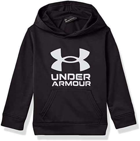 Under Armour Boys UA Symbol Hoodie Black Moderate Gray 7 product image