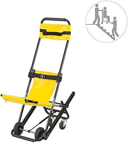 GLJY EMS Stair Chair - Rettungswagen-Feuerwehrmann-Evakuierungs-Medizinlift-Treppenstuhl, medizinische Mobilitätshilfe mit Zwei Sicherheitsgurten, EVAC + -Stuhl, 400 lbs Kapazität