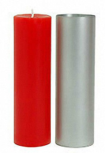 Round Pillar Seamless Aluminum Candle Molds 2 inch size (You Choose Height) (2