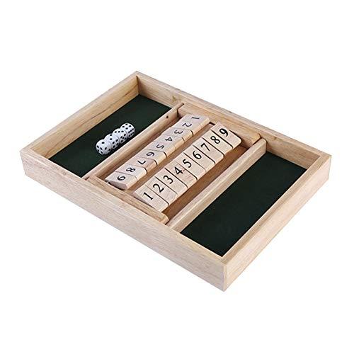 Horypt Shut the Box Game, Closed Box Game Tragbares Strategie-Brettspiel für Kinder Erwachsene Holzspielzeug und Kinder-Lernspiele