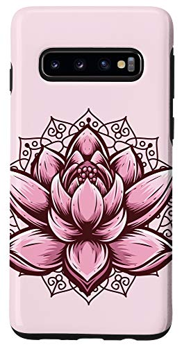 Galaxy S10 Lotus Flower Pattern Spiritual Yoga Meditation Inner Peace Case