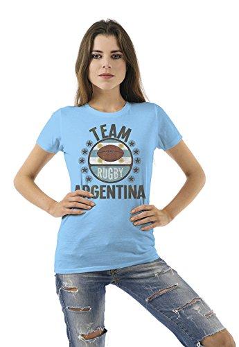 Team Argentina Rugby Ladies Camiseta Para Mujer Retro T-Shirt