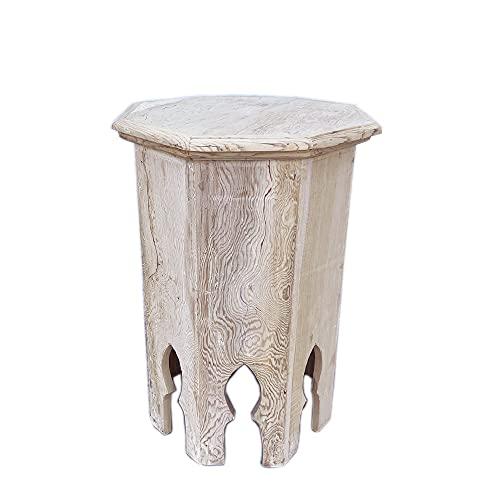 Tavolino marocchino in legno di cedro grezzo