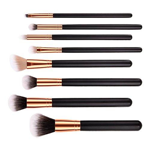 Sharplace Kit Pinceaux Maquillage Brush make-up à Poudre Fond de Teint du Visage/Blush/Fard à Paupières/Lip Liner - Lot de 7pcs/10pcs - 8pcs