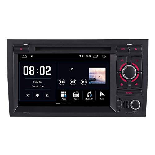 JIBO para Au di A4 B6 8E/8H 2000-2006 Auto Cabeza Unidad Android 10 Doble Estruendo Estéreo GPS Navegación Multimedia Jugador 7' HD Tocar Pantalla BT SWC WiFi Auto Radio Video Receptor