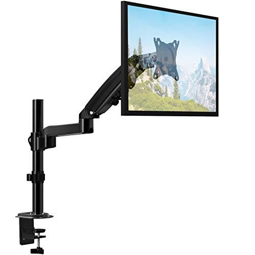 ErGear Monitor Halterung für 13-32 Zoll /9KG Bildschirm mit Vollbereich-Bewegung Höhenverstellbarer Tischmonitor Einzelmonitorständer Neigung +85°/-30° Schwenkung 180° Drehung 360° VESA 75/100mm