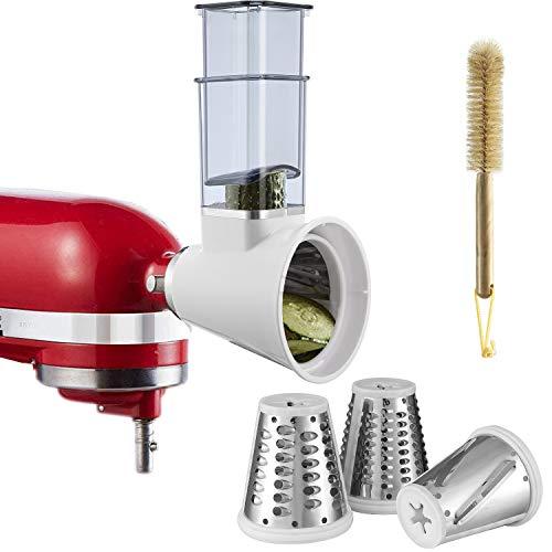 Zerkleinerer-Aufsatz für KitchenAid/PHISINIC Küchenmaschine, Gemüsezerkleinerer, Käsereibe, Salatschneider, Zubehör