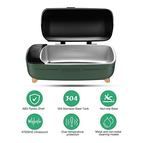Nicekko Ultrasone reiniger, 400 ml, met twee bedieningsmodi, ultrasone reinigingsmachine voor brillen, sieraden, snelle reiniging in 3 minuten