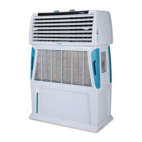 Symphony Touch 80 Room Air Cooler 80-litres, 4-Side Cooling Pads, Fully closable louvers, Multistage Air Purification, Cool Flow Dispenser & Low Power Consumption (White)