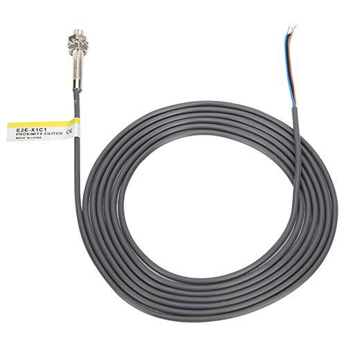 Mxzzand Sensor inductivo amplificador interno con interruptor de proximidad de 3 cables para equipo de seguridad