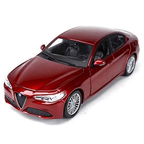 MXueei Coche Deportivo Modelo Fundido A Troquel Escala 1:24 Alfa Romeo Giulia Simulación Aleación Estática Modelo De Juguete Coche Coche De Juguete para Niños (Color : Wine Red)