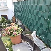 Balkon HENGMEI 10 St/ück Sichtschutzstreifen Hart PVC 19cm x 2.5m Sichtschutz Zaunfolie Blickdicht f/ür Gartenzaun Hellgrau