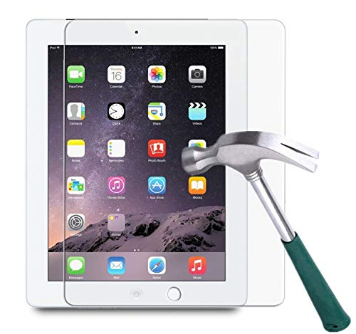 M.G.R.J® Tempered Glass Screen Protector for Apple iPad 2/3 / 4 (Oldest Version) (2011, 2012)