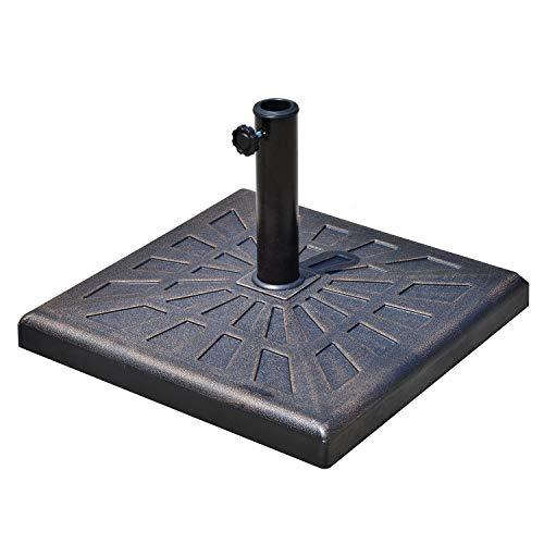 Outsunny Base per Ombrellone Diametro 3,8-4,8cm Peso 16,8Kg da Giardino Resina 47x47x32cm