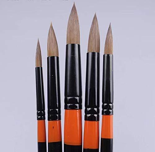 XDT#120 Liner Artist Paint Art Brush 5pc #000 Kolinsky Watercolor Nail Acrylic