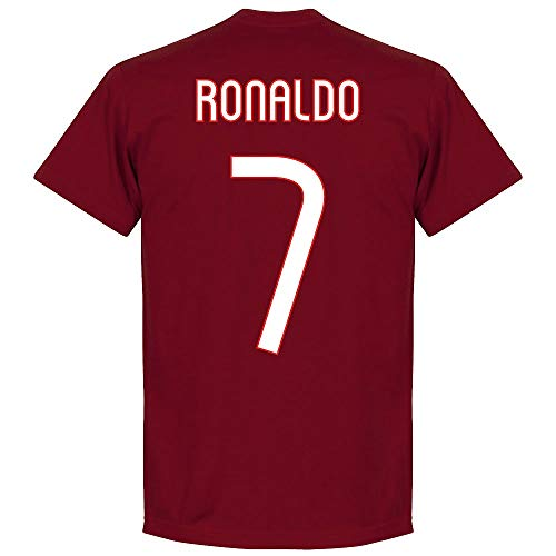 Portogallo Ronaldo Team T-Shirt - Maroon - S