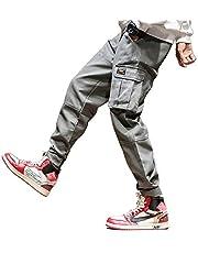 kaoho ジョガーパンツ メンズ スウェット サルエル カーゴ スキニー テーパード ワーク ゆったり ロングパンツ 大きサイズ カーゴパンツ メンズ