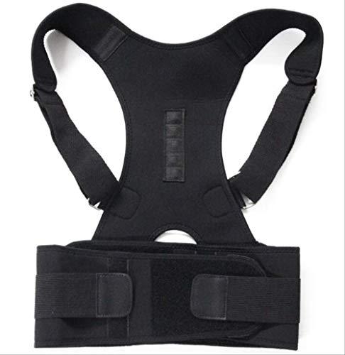 VBNM Soporte de Espalda Envío De La Gota Terapia Magnética Corrector De Postura Brace Soportes Cinturón Hombro S Negro