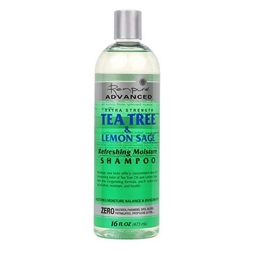 Renpure Advanced Tea Tree & Lemon Sage Shampoo, Green , 16 Ounces
