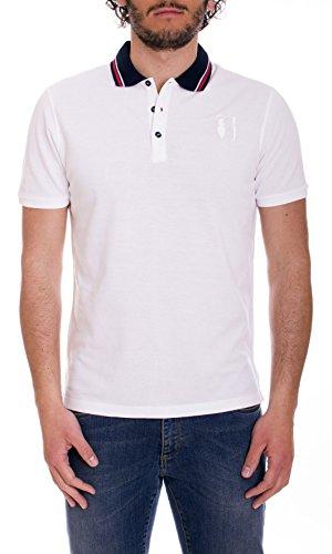 Trussardi Jeans Poloshirt Kurzarm Herren Orange oder Weiß Art. 52T05 Large