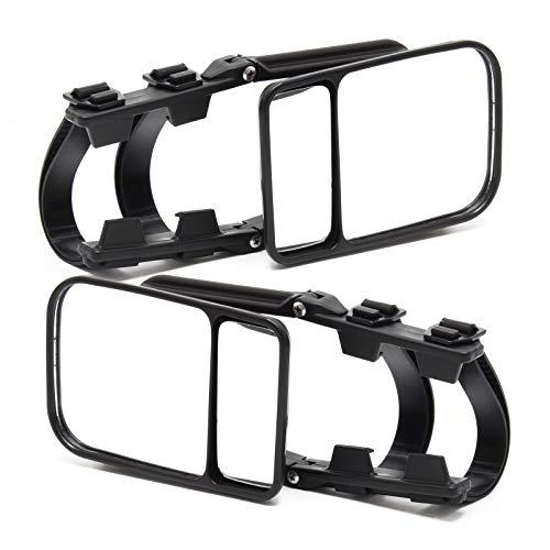 Wiltec Universal Wohnwagenspiegel 2er Set, Caravanspiegel, Zusatzspiegel für Wohnwagen, Universalspiegel