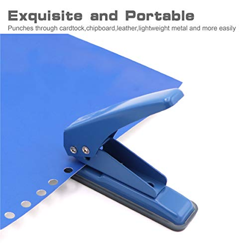 """2 pcs Low Force Hole Punch, 20 Sheets Punch Capacity, 1/4"""" Holes, Hole Puncher, Paper Punch Hand Punch with Skid-Resistant Base for Paper, Chipboard, Thin Metal, Craft Paper and Art Project Photo #2"""