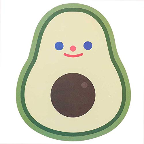 Mouse Pad Cute Avocado Mouse Pads Kids Mouse Pad with Non-Slip Rubber Base for Laptop Gaming Home Office, Mouse Mat for Kids Women, Waterproof PVC 7.9 x 6.5 Inches