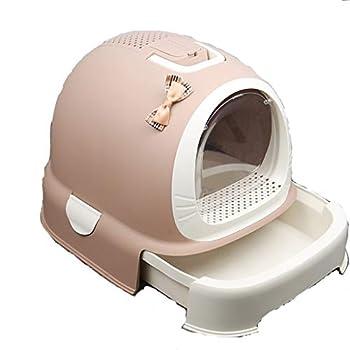 Rory Dissociables De Toilette pour Chat, Plus Grand Espace Litière Tiroir Type Plateau Boîte avec Pelle, Facile À Assembler 52 * 42 * 40Cm,H