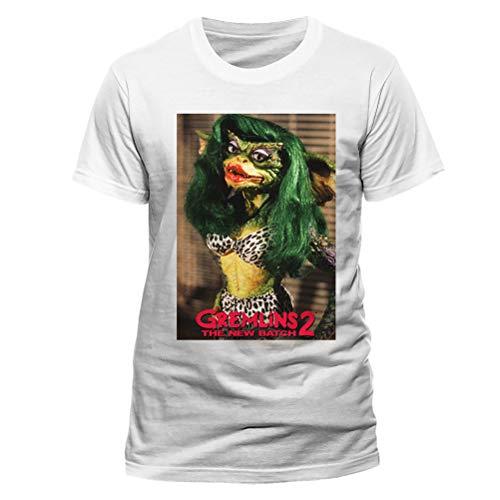 Gremlins 2 - Camiseta Greta para Adultos Unisex (XXL) (Blanco)