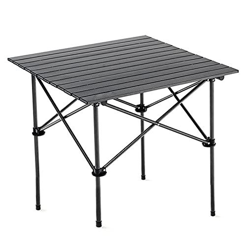 BuyWeek Mesa Plegable para Exteriores, mesas de Camping de aleación de Aluminio, Escritorio Plegable Ultraligero portátil para Acampar al Aire Libre, picnics, Senderismo