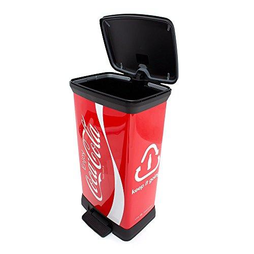 Curver - Cubo de Basura, 50 L, Coca Cola