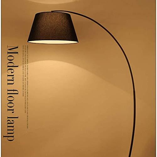 CLJ-LJ Conducido Dormitorio Lámparas de pie, Pesca Sala de estar enciende simple lámpara moderna nórdica la lámpara creativa Eye-Cuidado Vertical luz del piso, Negro (Color : Black)