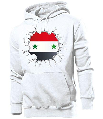 Golebros Syrien Syria Fussball Fanhoodie Fan Männer Herren Hoodie Pulli Kapuzen Pullover Fanartikel Trikot Look Geschenke Flagge zubehör Fahne fußball Fanartikel Oberteil Flag Artikel Outfit