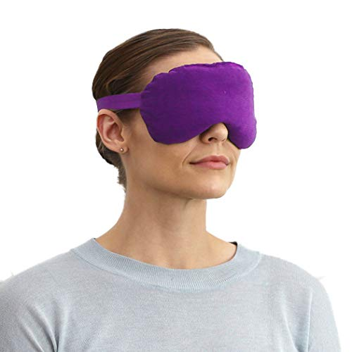 SensaCare Lavender Eye Mask for Sleeping | Eye Cover with Soothing Lavender Aroma | Eye Pillow for Yoga & Meditation (Purple)
