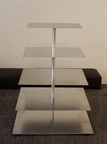 en Aluminium de Support à gâteaux à 5 étages tortenetagere rectangulaire 15 x 20 x 30/35 40 mm - 25 x 30 x 45 cm - 35 x 50 cm