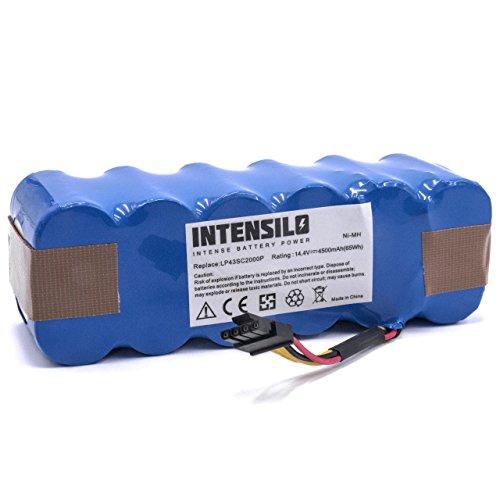 INTENSILO Batería NiMH 4500mAh (14.4V) para robots aspirador doméstico Haier SWR-T320, SWR-T321, SWR-T322, SWR-T325 reemplaza LP43SC2000P.