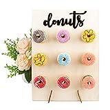 Tiandirenhe Donut Pared,Soporte Donuts, Expositor de Donuts, Puede Utilizarse Para Bodas, Cumpleaños, Fiestas, Aniversarios, Restaurantes, Pastelerías(35 X 26 X 12 Cm)