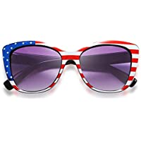 Feisedy Polarized Vintage American Square Jackie O Cat Eye Sunglasses
