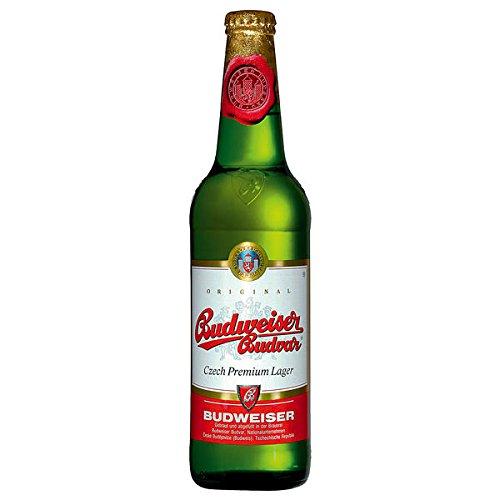 Budweiser Budvar Premium Lager Bier aus Tschechien - 5 x 0,5 Liter inkl. Pfand MEHRWEG