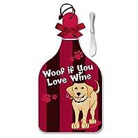 Epic Products Woof If You Love ワインチーズサーバーとスプレッダーセット L マルチカラー