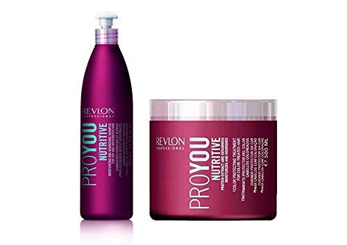 REVLON PROYOU NUTRITIVE CHAMPU 350 ml + REVLON PROYOU NUTRITIVE MASCARILLA 500 ml